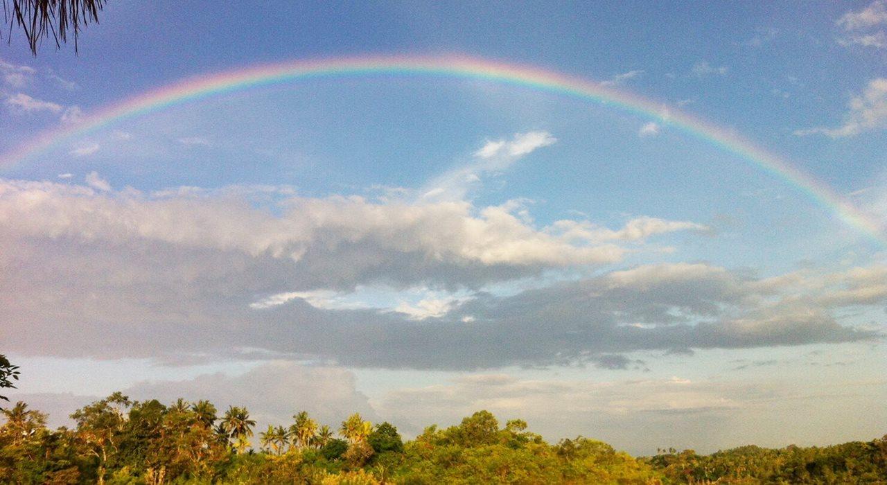 アラムヌサから見える虹
