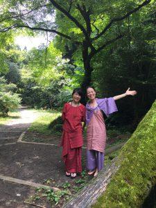 美しい苔と女神たち