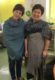 TAKSU AMANATのお洋服を着た女性