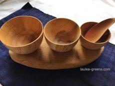 チーク材の椀