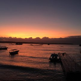 ヌサペニダの夕日